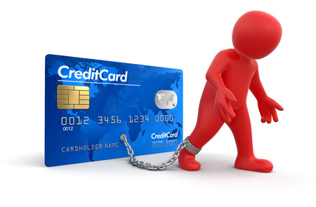 Man and Credit Card  clipping path included
