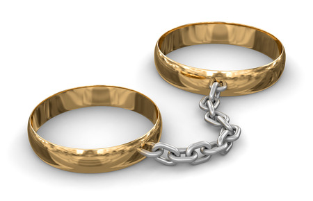 Connected rings  clipping path included