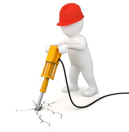 presslufthammer: Arbeiter mit Presslufthammer Lizenzfreie Bilder