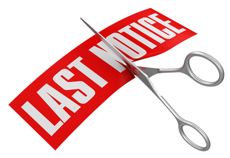 Rubber Stamp Last Notice   clipping path included Stock Photo - 22384354