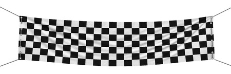 Checkered Banner  clipping path included  photo