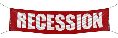 Recession Banner  clipping path included  Stock Photo
