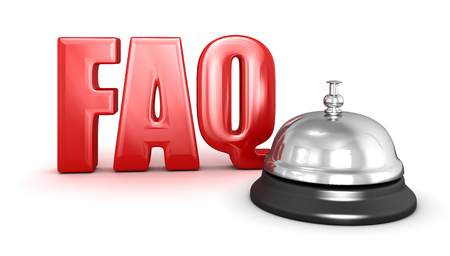service bell: Service bell and FAQ Stock Photo