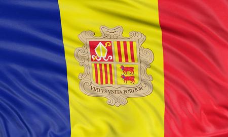 3D Andorra flag photo