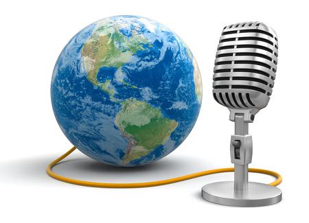 Microphone and Globe Reklamní fotografie - 22463265