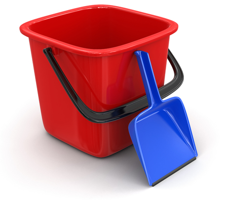 dustpan: Bucket and dustpan  clipping path included
