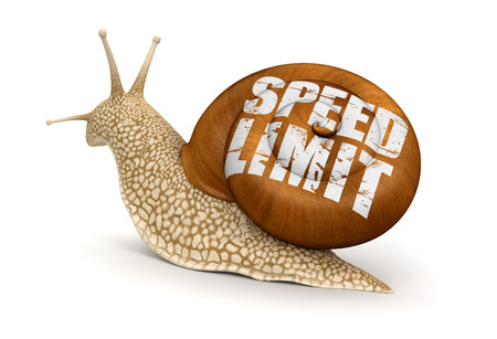 no rush: Speed Limit Snail  included  Stock Photo