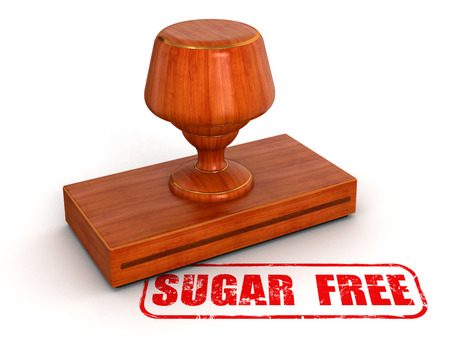 Rubber Stamp sugar free   included Stock Photo - 22463537