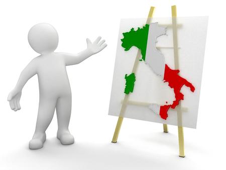 Man and Italian map  photo