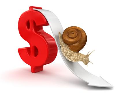 no rush: Snail  and Dollar