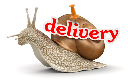 no rush: Delivery Snail