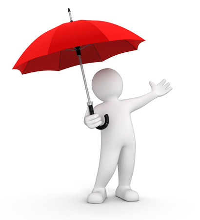 Man with Umbrella   photo