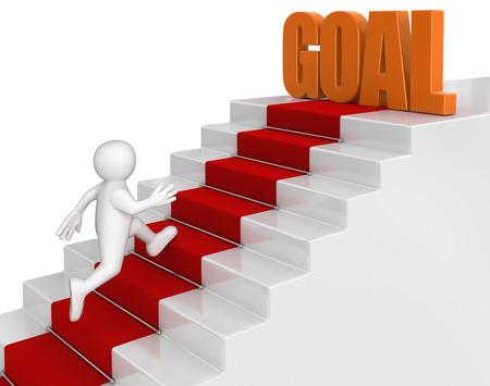 businessman run to goal 版權商用圖片