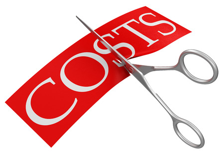 Scissors and costs  clipping path included  Stock Photo