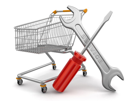 Shopping Cart with Tools Stock Photo - 22506431