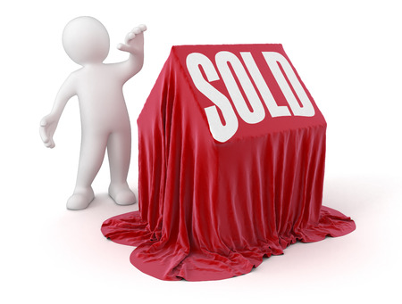 Man and sold house Stock Photo - 22506428
