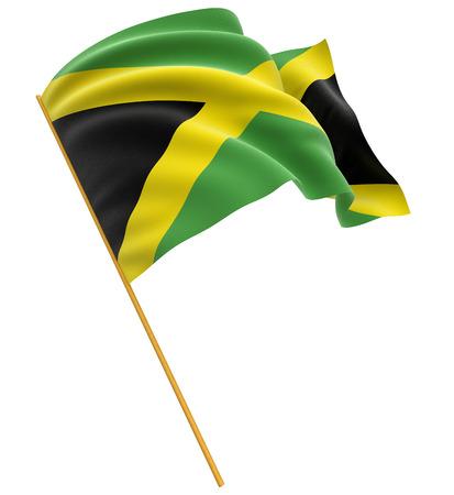 jamaican: 3D Jamaican flag