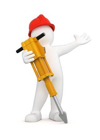 Pre�lufthammer: Arbeiter mit Presslufthammer Lizenzfreie Bilder