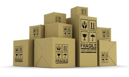 Viele Pakete Standard-Bild - 22506560