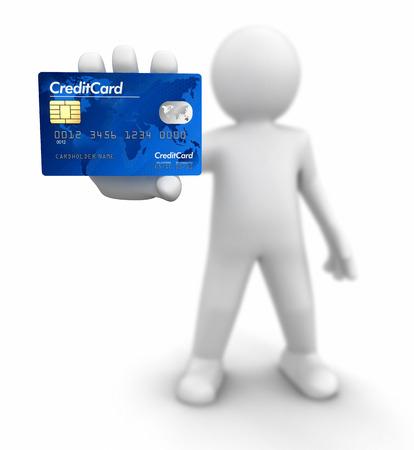 男子用信用卡