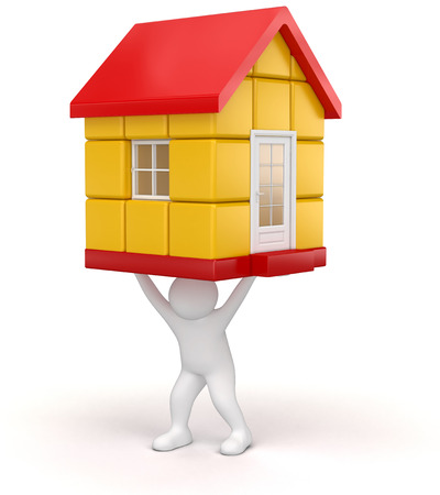 Man and house Stock Photo - 22534870