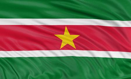 suriname: 3D flag of Suriname