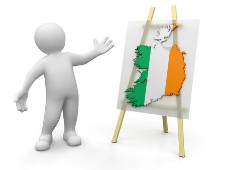 irish map: Man and Irish map