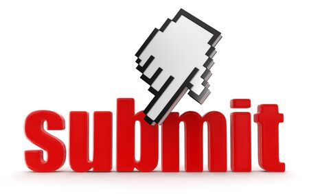 Cursor  and submit