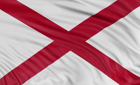 alabama flag: 3D Alabama Flag