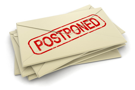 postponed letters   Stock Photo