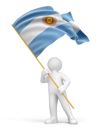 bandera argentina: El hombre y la bandera de la Argentina