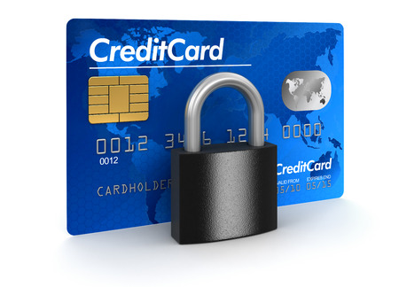 Credit Card and lock    photo