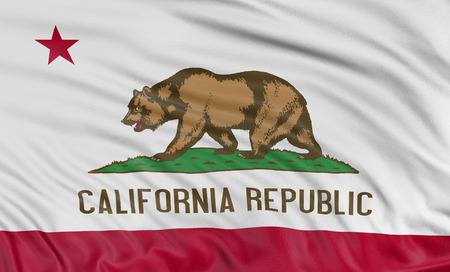 california flag: 3D California Flag Stock Photo