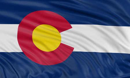 colorado flag: 3D Colorado Flag
