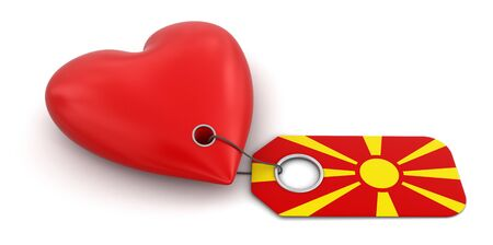 macedonian flag: Heart with Macedonian flag