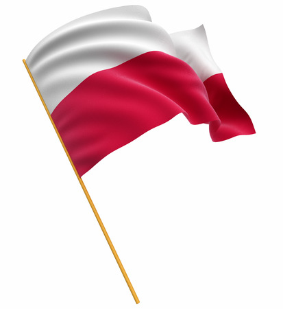 3D Polish flag Stock Photo