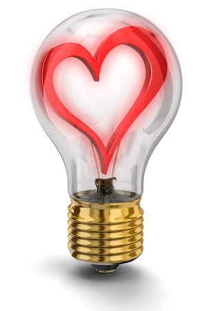 Light bulb with Heart