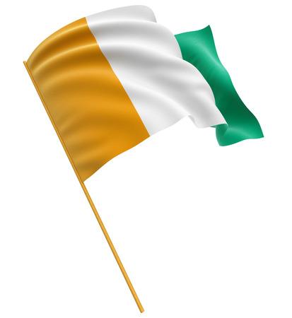 cote d ivoire: 3D Cote d ivoire flag