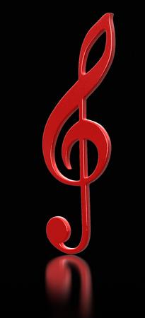 treble clef: Treble clef  Stock Photo