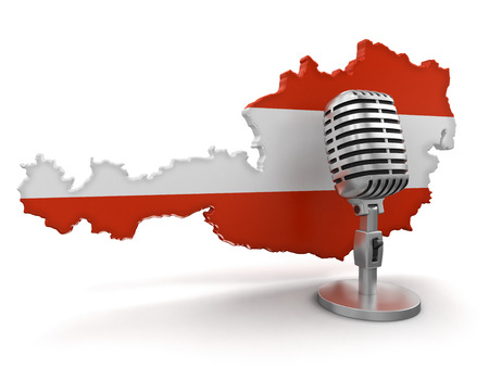 Microphone and Austria  Stock Photo