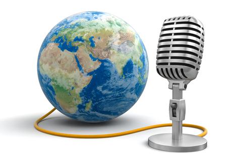 Microphone and Globe
