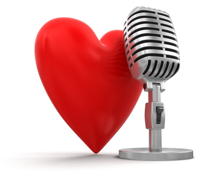 heart with Microphone