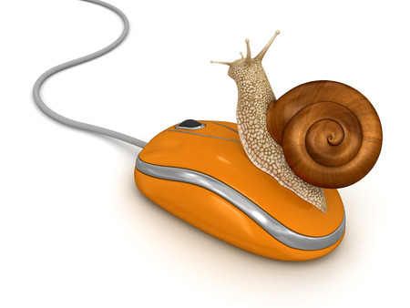 no rush: Snail and Computer Mouse