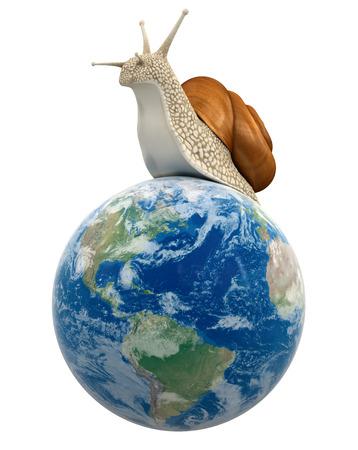 no rush: Globe and Snail   Stock Photo