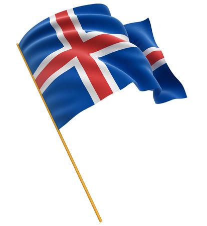icelandic flag: 3D Icelandic bandera trazado de recorte incluidos Foto de archivo