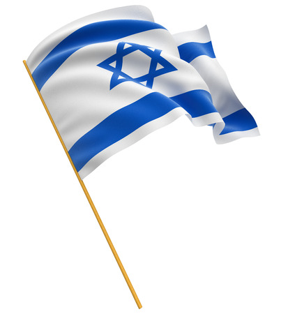 3 D のイスラエル共和国の旗