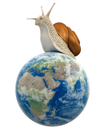 Globe and Snail  clipping path included  photo