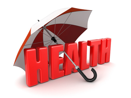 heartiness: Health under Umbrella  clipping path included  Stock Photo