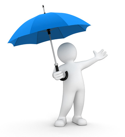 Man with Umbrella  clipping path included  Reklamní fotografie