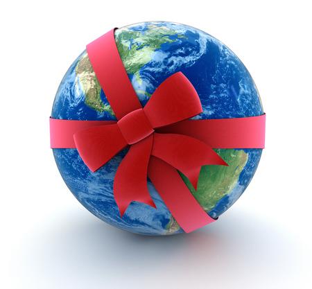 Globe and Celebration Bow